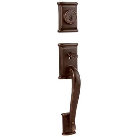 Kwikset Ashfield Single Cylinder Handleset W/Ashfield Lever Featuring  SmartKey In Venetian Bronze