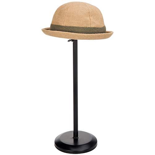 MyGift Black Metal Dome Shape Design Tabletop Adjustable Height Hat Stand/Wig Display Rack