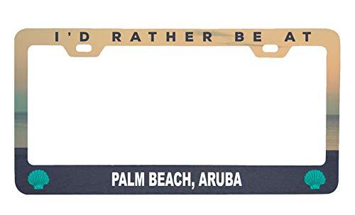- R and R Imports Palm Beach Aruba Sea Shell Design Souvenir Metal License Plate Frame