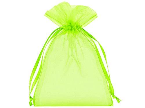 tama/ño 40 x 30 cm elemento decorativo el envoltorio ideal para regalos 10 bolsitas de organza verde claro bolsas de organza