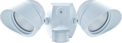 RAB SMSBULLET2X12NWLED Smart Bullet Flood 2x12W with Motion Sensor, White by RAB