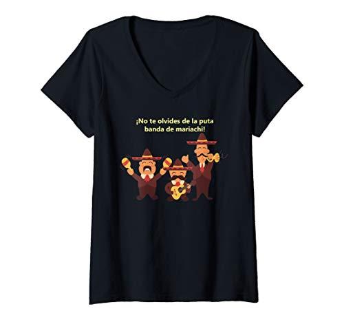 Womens Mariachi Band Humor banda de mariachi humor shirt V-Neck T-Shirt