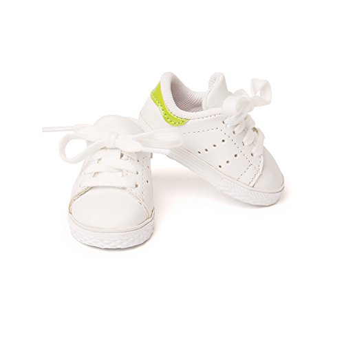 Maplelea Track and Trail Running Shoes for 18 Inch Doll - White Tennis Shoes