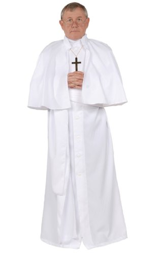 Priest Costume White (Men's Pope Costume Standard)