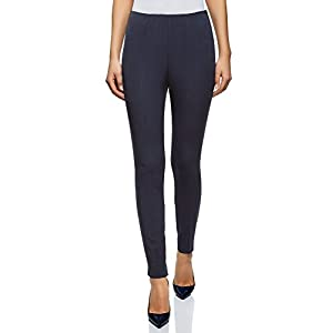 oodji Collection Donna Pantaloni Stretti con Zip Laterale