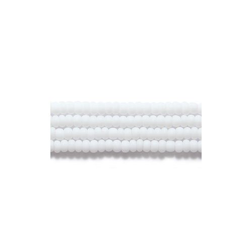 Preciosa Ornela Czech Seed Bead, Opaque Matte White, Size 11/0 11SB112-M