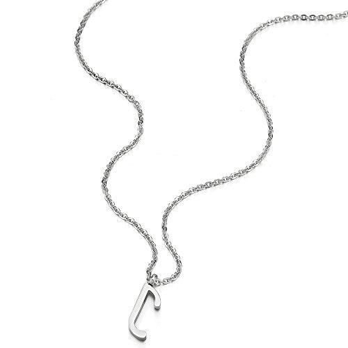 A Acier J Alphabétique Chaîne Collier Couleur Corde Lettre Coolsteelandbeyond Homme Femmes 50cm Pour Initial Nom Pendentif Argent qpIvR