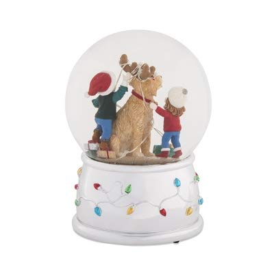 Things Remembered Personalized Children and Dog Musical Snow Globe with Engraving Included