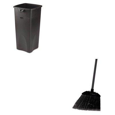 kitrcp356988bkrcp637400bla – Valueキット – Rubbermaid Untouchable廃棄物コンテナ(rcp356988bk) とrubbermaid-black Brute AngledロビーBroom (rcp637400bla)   B00MOOOXYY