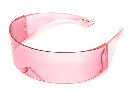 WebDeals - Futuristic Wrap Around Monoblock Cyclops Shield Sunglasses... (Solid Pink)