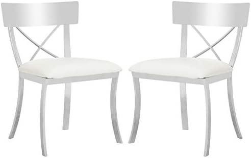 Safavieh American Homes Collection Zoey White 19-inch Side Chair Set of 2
