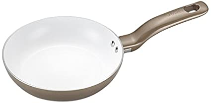 8-Inch T-fal C72802 Initiatives Nonstick Ceramic Coating PTFE PFOA and Cadmium Free Scratch Resistant Dishwasher Safe Oven Safe Fry Pan Cookware Gold