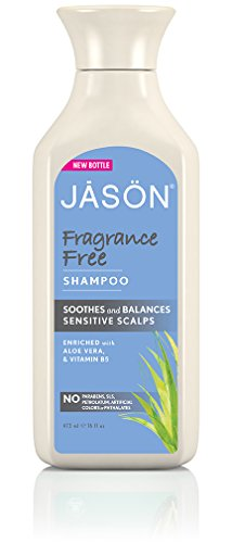 Jason Natural Fragrance - Jason Fragrance Free Daily Shampoo, 16 Fluid Ounce