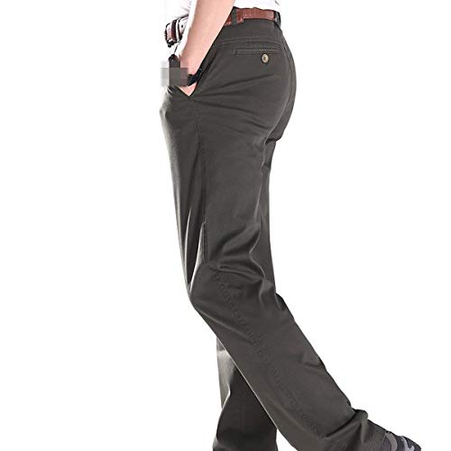 Di Semplice Allentati Alta Colori Amayay Solidi Brown Vita Svago Stile Formali Tasche Della Degli Pantaloni Laterali Diritti Uomini EpxqAwfR