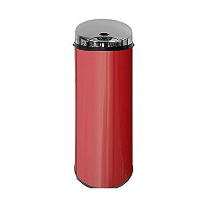 Carpemodo Sensor Cubo de basura Cubo de basura con sensor de movimiento 45 L volumen Rojo