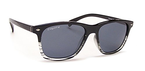 Dakota Crystal - Coyote Eyewear Dakota Polarized Street & Sport Sunglasses, Black Crystal Fade Frame/Gray Lens