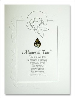 Amazon memorial tear sympathy card with pewter lapel pin memorial tear sympathy card with pewter lapel pin bereavement loss grief thecheapjerseys Gallery
