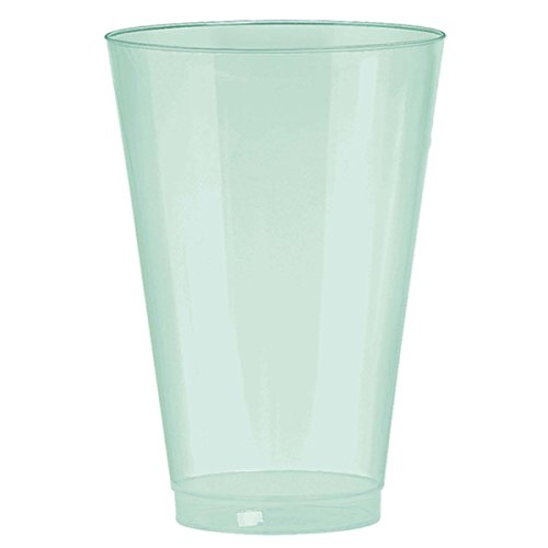 Amscan Disposable Cups Pearl Bpp Premium 10 Oz. (72Ct) Plastic Tumblers, Robin's-Egg (Robins Egg Blue Pearls)
