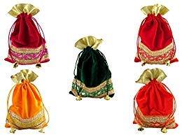 GoldGiftIdes Ethnic Velvet Potli Bags for Women 4c6e4b730f668