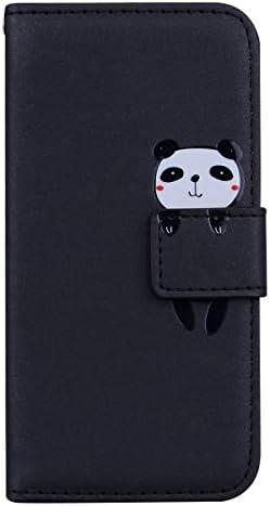 Hoesje voor Samsung Galaxy Note 9 Wallet Book Case Magneet Flip Wallet met Kaarthouders slots Robuuste schokbestendige Bookcase voor Galaxy Note9JEHM020303 zwart