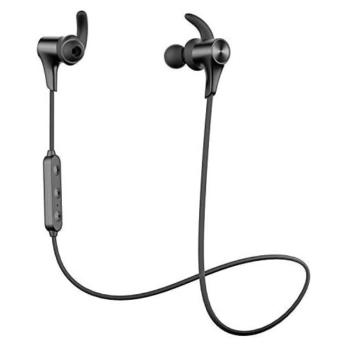 chollos oferta descuentos barato  Nuevo Versión Q12 HD SoundPEATS Auriculares Bluetooth 5 0 Inalámbrico Magnéticos Cascos Deportivos IPX6 Impermeable con Mic In Ear Incorporado Estéreo Duración 9 Horas para iOS Android PC Negro
