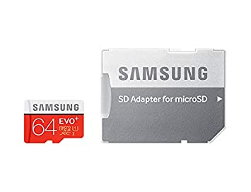 Samsung MicroSD Evo+ 64GB Adapter Micro SD Cards at amazon