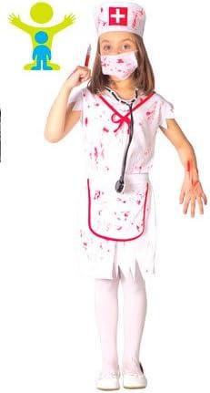 Guirca Disfraz de Enfermera Zombie para niña S2-(4/5 años): Amazon ...