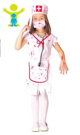 Guirca Disfraz de Enfermera Zombie para niña S2-(4/5 años ...