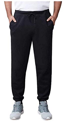 Fila Men's French Terry Jogger Pant, Black, Size Medium (Mens Fila Sport Fleece 2-0 Jogger Pants)