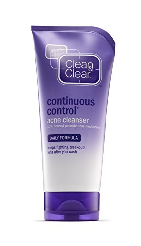 Clean & Clear Continuous Control Acne Cleanser, 5-Ounce Tubes (Pack of 4) Clean Clear Continuous Control Acne Wash