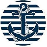 fashion-mouse-mat-nautical-anchor-on-stripes-customized-round-mousepad