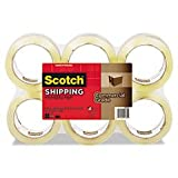 * 3750 Commercial Grade Packaging Tape, 1.88'' x 54.6yds, Clear, 6 Rolls per Pack