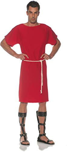 Underwraps Men's Classic Greek Toga Costume-Red, One Size ()