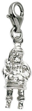 (Rembrandt Charms Santa Charm with Lobster Clasp, Sterling Silver)