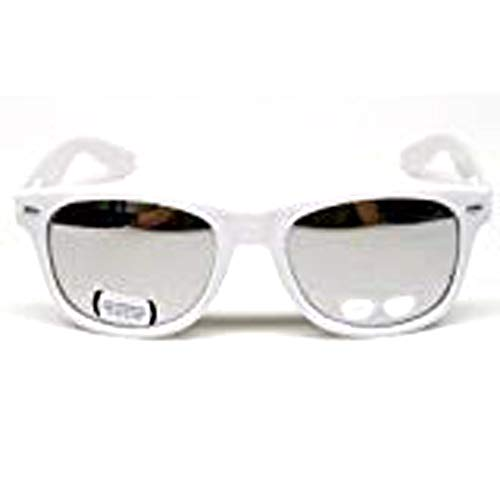 (Vintage Retro Mirrored Sunglasses Unisex W110 White /)