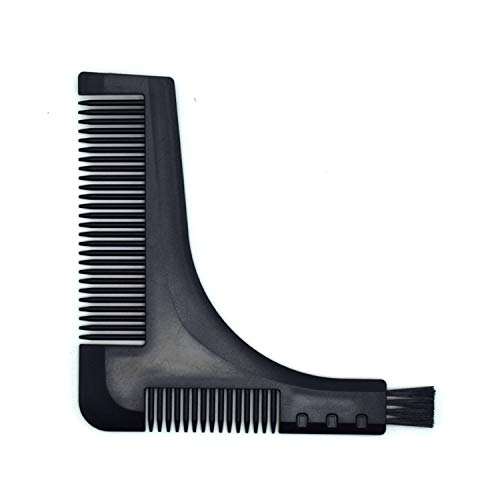 Happy Mart New Comb Beard Trimmer Shaping Tool Sex Man Gentleman Beard Trim Template Beard Combs Shaving Hair Molding (black)