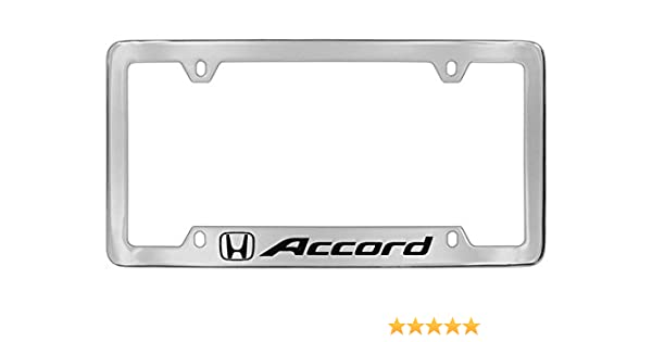 Honda Accord Chrome Plated Metal Decorative Vanity License Plate