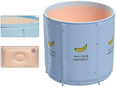 内湯・大人家庭用折りたたみ式浴槽・内湯・厚浴槽・全身浴槽・折りたたみ収納浴槽 浴室用設備 (Color : Blue, Size : 65*70cm)