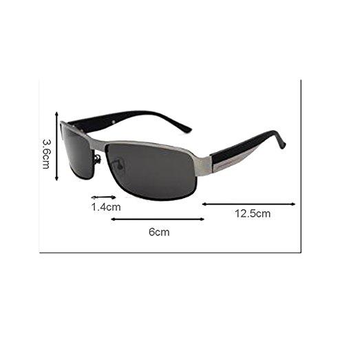 Conductor conducción Viajes sol Hombres Color Gun Retro de de Negro aire Polarizadas Conducción Gafas de Gafas WLHW al UV color Gafas sol Resina libre Espejo CtwqR6a1