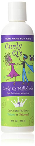 Curls Curly Q Milkshake Light Curl Styling Lotion, 8-Ounce Bottle (Best Hair Products For Fine Curly Hair)