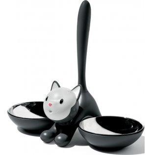 Cat Bowl Alessi - Alessi Tigrito Cat Bowl, Black
