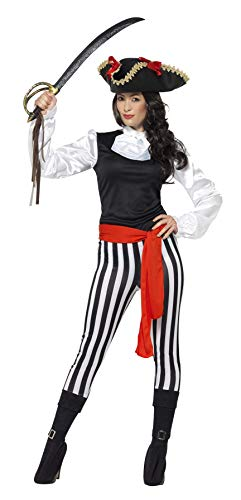 Smiffy's Women's Pirate Lady Costume, with Top, Black, Medium