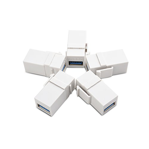 (Cable Matters (5-Pack) USB 3.0 Keystone Jack Inserts in White)