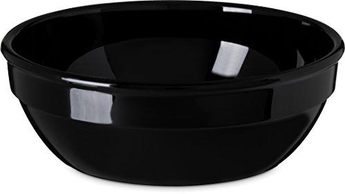 Carlisle PCD31603 Nappie Bowls, Set of 48 10-Ounce, Polycarbonate, Black by Carlisle
