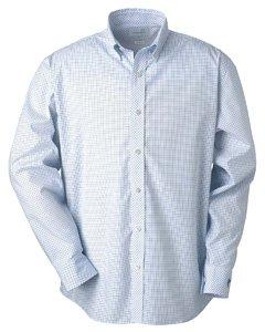 Ashworth 7095C Men's EZ-Tech Check Pattern Woven-Long Sleeve Shirts-Small-Yacht Club ()