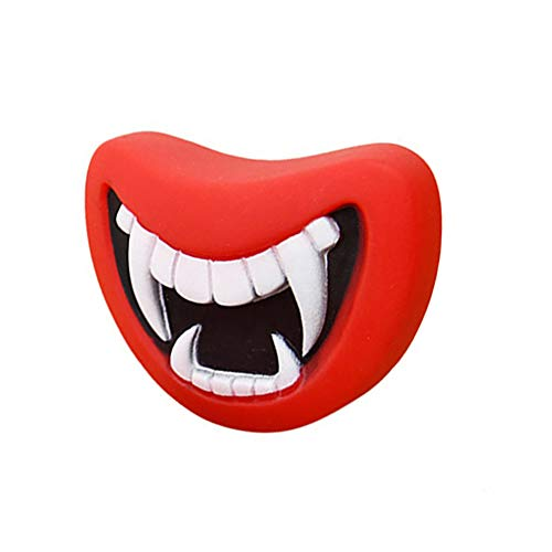 (Godagoda Pet Haoolween Chew Toy Red Teeth Pink Pig Nose Squeaky Sound Toys for Dog Cat 1 Pcs)