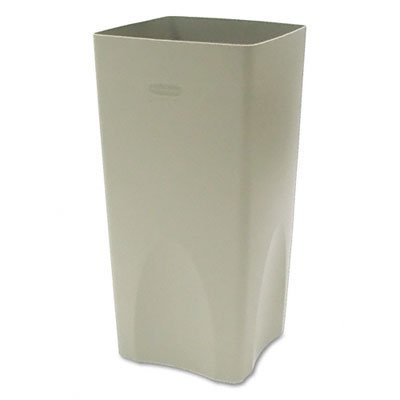 Rubbermaid Commercial Plaza Waste Container Rigid Liner, Square, Plastic, 19 Gallons, Beige (Plaza Receptacle)