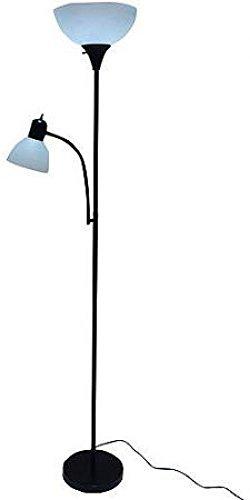 Black Floor Lamp with Reading Light - 72