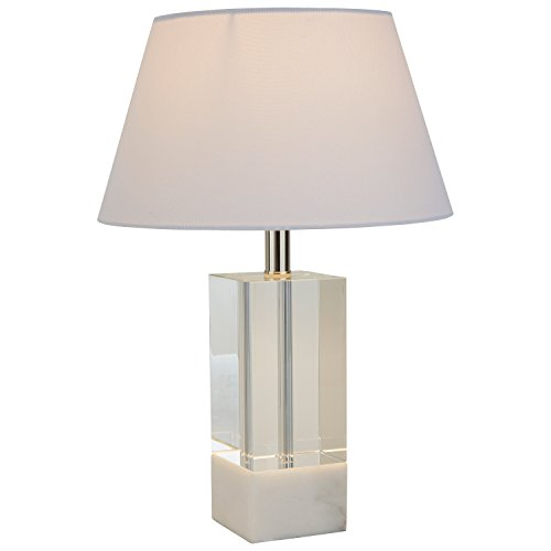 Stone & Beam Modern Crystal Table Lamp, 18''H, with Bulb, Shade by Stone & Beam
