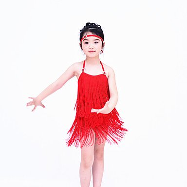 Moderna la como Latina Desempeño Accesorios Cheerleader Noche de Foto Vestidos Danza Jazz en la PA RED Danza de Licra Ropa Vestidos AZttxp